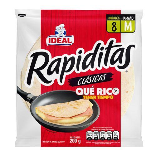 Tortillas Rapiditas 8un 200g