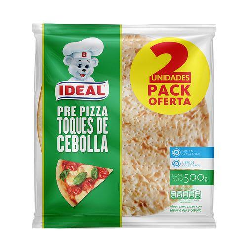 Pre Pizza Toques de Cebolla 2un 500g
