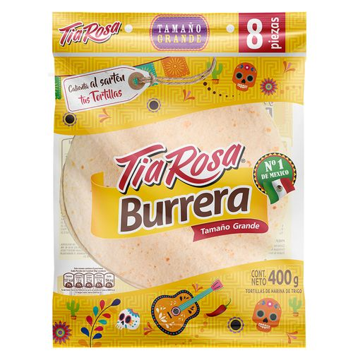 Tortilla Burreras 22cm 8un 350g