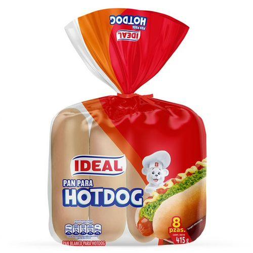Pan de Hot Dog 15cm 8un 415g