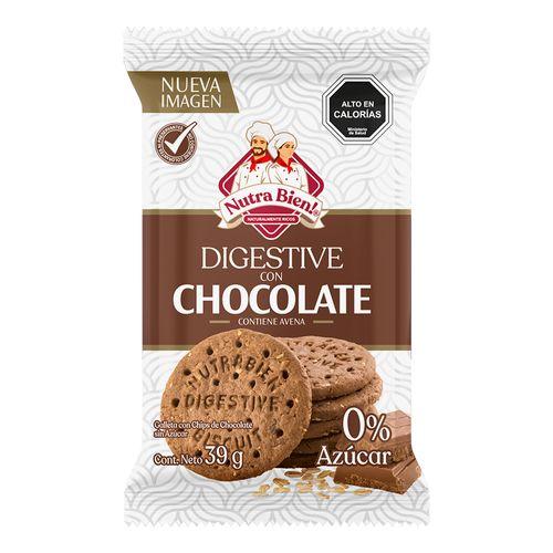 Galleta Digestive Sin Azucar Chocolate 39g