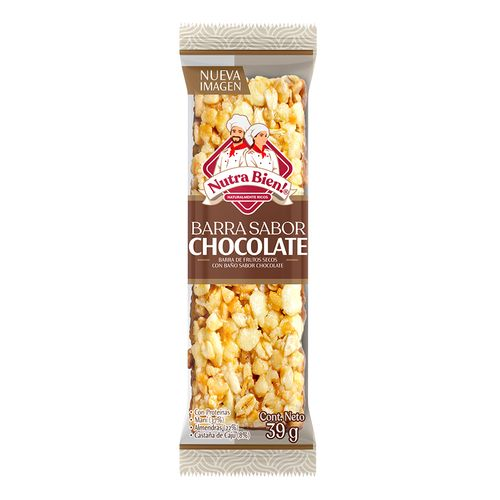 Barra de Frutos Secos y Chocolate 39g